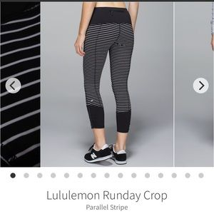 LULULEMON Runday Crop Parallel Stripe Leggings